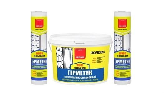 Герметик строительный «NEOMID ТЕПЛЫЙ ДОМ WOOD Professional» - ведро 3 кг