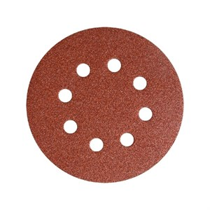 Круги шлифовальные на липучке Vertex D-125 мм (с отверстиями, 40-320 зерно)