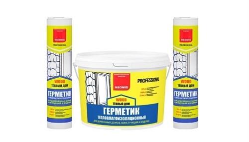 Герметик строительный «NEOMID ТЕПЛЫЙ ДОМ WOOD Professional» - ведро 3 кг - фото 4751